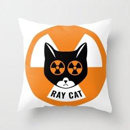 Ray Cat Throw Pillow