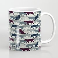 camo Mugs featuring Cat Camo by sheena hisiro