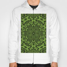Butterfly kaleidoscope in green Hoody