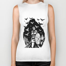 Shield Maiden of Ravens Biker Tank