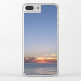 Sunset at Etretat, France Clear iPhone Case