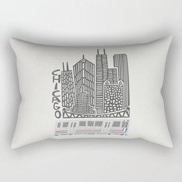 Chicago Cityscape Rectangular Pillow