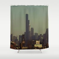 chicago Shower Curtains featuring Chicago by Patricia McNickle