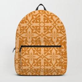 Ethnic tile pattern orange Backpack