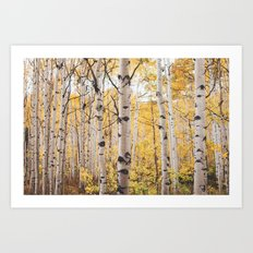 They were all yellow.... Art Print