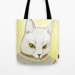 SWEATER AND ALSO CAT Tote Bag