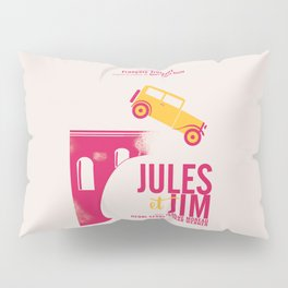 Jules et Jim, François Truffaut, minimal movie Poster, Jeanne Moreau, french film, nouvelle vague Pillow Sham