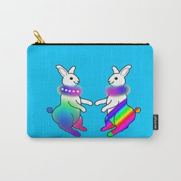 Rainbow Rabbit Carry-All Pouch