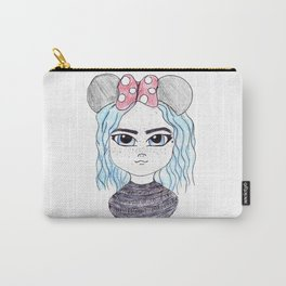 Cute Mouse Ears | Coloured Illustration Carry-All Pouch