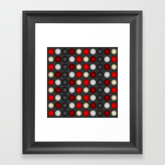 Dark Romance Polka Framed Art Print