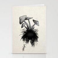 mushrooms Stationery Cards featuring Mushrooms by Nicklas Gustafsson