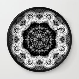 Black-and-White Abstract 55 Wall Clock