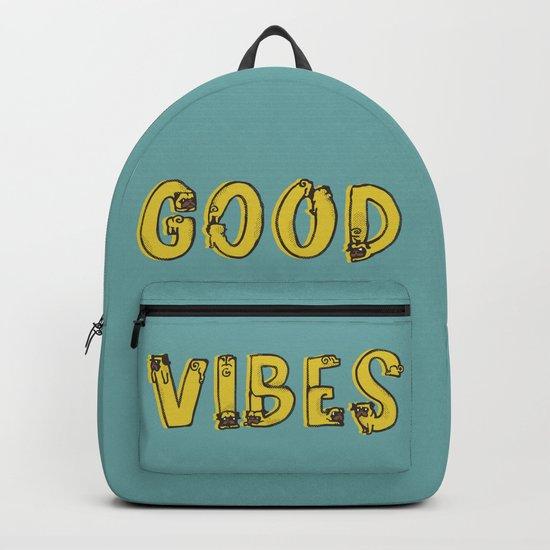 Good Vibes Pugs Backpack