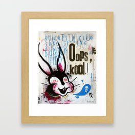 Oops cool Framed Art Print