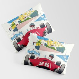 Classic Grand Prix Poster Pillow Sham