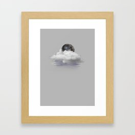 The Moon and Back Framed Art Print