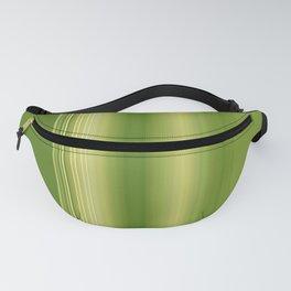 Olive Green Retro Stripe Fanny Pack