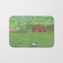 Sheep in the Countryside Bath Mat