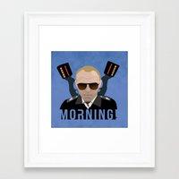 hot fuzz Framed Art Prints featuring Hot Fuzz - Sergeant Nicolas Angel - Morning! by Mr. K