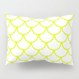 Chartreuse Fish Scales Pattern Pillow Sham