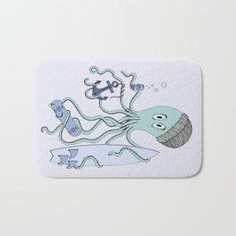 Octopus dude Bath Mat