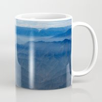 peru Mugs featuring Blue in Peru by The Blonde Dutch Girl