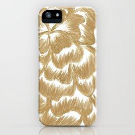Golden Dahlia Flower iPhone Case