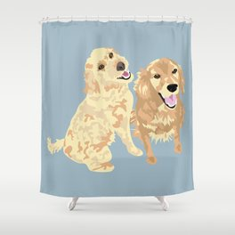 Libby and Apollo Shower Curtain