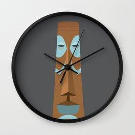 Striped Tiki Wall Clock