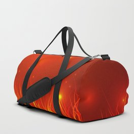 Flames from the fire and spark. Duffle Bag