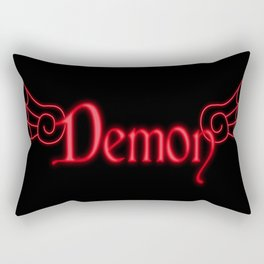 Demon with Wings Rectangular Pillow