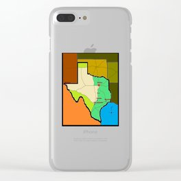 A Map of Texas with Waco on it Clear iPhone Case