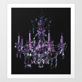 Amethyst Crystal Chandelier Art Print