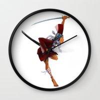 samurai Wall Clocks featuring Samurai by youcoucou