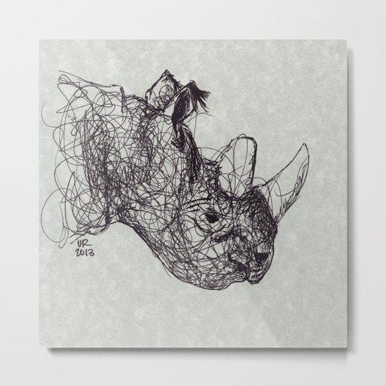 Reginald Rhinoceros Metal Print