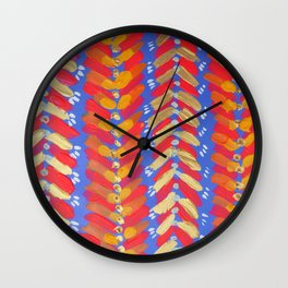 Red Chevron Wall Clock