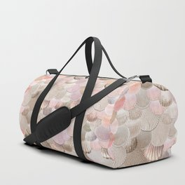 MERMAID SHELLS - CORAL ROSEGOLD Duffle Bag