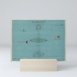 Solar System Chart Mini Art Print