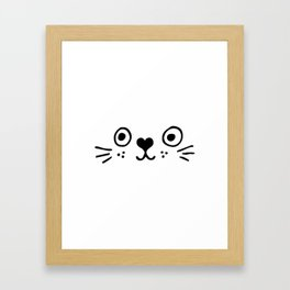 Cat Face, kids room and nursery deco Framed Art Print