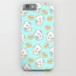 Hand drawn adorable cat pattern iPhone Case