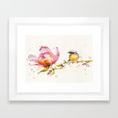 Magnolia & Buddy Framed Art Print