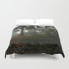 Divided In Fall (There Are No Picnics Here) Duvet Cover