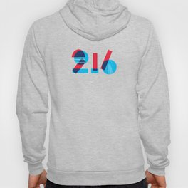 Two One Six -Red White & Blue Hoody