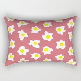 Eggs Over Red Rectangular Pillow