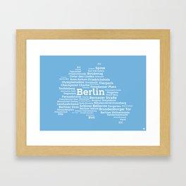Typographic City: Berlin Framed Art Print