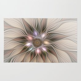 Joyful Flower, Abstract Fractal Art Rug