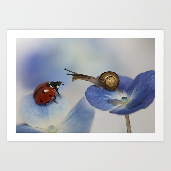 Very nice to meet you! Art Print
