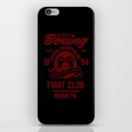 clasic boxing iPhone Skin