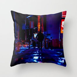 out for the night Throw Pillow