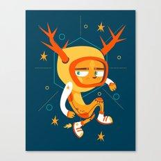 Space Deer Canvas Print